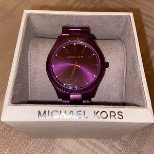 Michael Kors Slim Runway purple watch MK4507